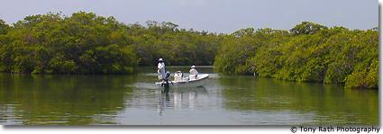 Flyfishing at Bacalar Chico