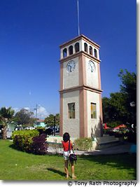 Clock Tower in Main Square of Corozal Town