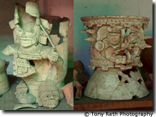 Artifacts Recovered from Excavation at Lamanai, close up