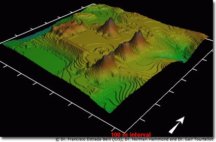 GIS generated elevation map of La Milpa