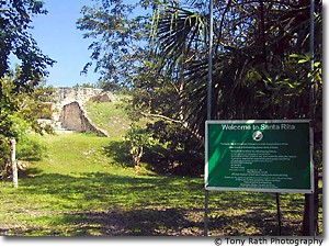 Entrance to Santa Rita Mayan Site
