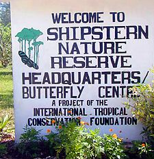 Sign at Shipstern Nature Reserve headquarters
